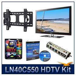 "LN40C550 - 40"" HDTV + Hook-up Kit + Power Protection + Calibration + Tilt Mount"