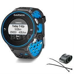 Forerunner 620 Black/Blue Bundle with Heart Rate Monitor + Bike Mount Kit