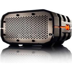Portable Ultra Rugged Wireless Speaker, Black with Orange - BRV1BOG
