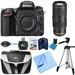 D750 DSLR 24.3MP HD 1080p FX-Format Camera Body 70-200mm NIKKOR Lens Bundle