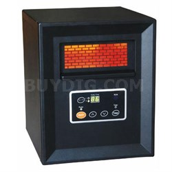 Comfort Glow Compact Infrared Quartz Heater in Black - QDE1340