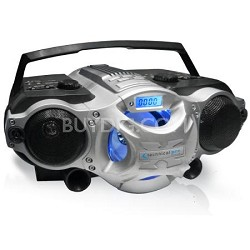 Portable Boost Speaker w MP3/USB/SD/TF Inputs (battery powered) Black & Silver