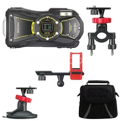 WG-20 14MP Waterproof Crushproof 5x Opt Zoom Camera Action Pack - Black