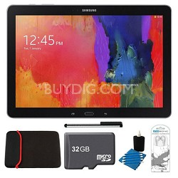 "Galaxy Note Pro 12.2"" Black 64GB Tablet, 32GB Card, Headphones, and Case Bundle"