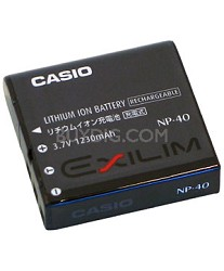 NP-40 1230mAh Lithium Ion Battery f/ Exilim EXP-600 and EX-Z40