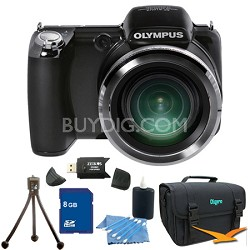 SP-810UZ 14 MP 36x Zoom Digital Camera 8 GB Bundle
