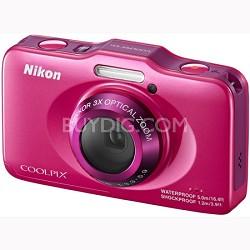 COOLPIX S31 10.1MP 720p HD Video Waterproof Digital Camera - Pink