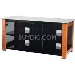 """DFV50 - Designer Series 3 Shelf A/V Cabinet for TVs up to 55"""" (Chestnut)"""