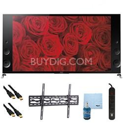 """55"""" 120Hz 3D LED X900B 4K Ultra HDTV Plus Tilt Mount & Hook-Up Bundle XBR55X900B"""