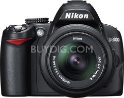 D3000 DX-format Digital SLR Kit w/ 18-55mm DX VR Zoom Lens - OPEN BOX