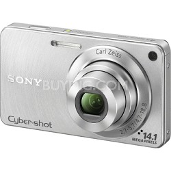 Cyber-shot DSC-W350 14.1 MP Digital Camera (Silver) - Open Box