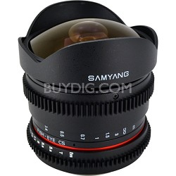"""8mm T3.8 """"Cine"""" Fisheye Lens for Canon VDSLR"""
