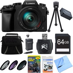 LUMIX G7 Interchangeable Lens 4K Video DSLM Camera w/ 14-140mm Lens 64GB Bundle