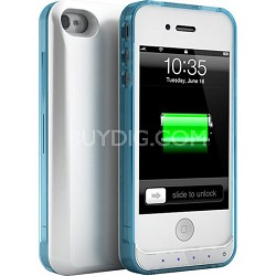 DX-Lite Protective Battery Case for iPhone 4 & iPhone 4S (White Crystal Blue)
