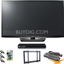 "50PA4500 50"" Class 720p Plasma HD TV Blu Ray Bundle"