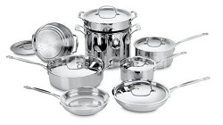 Chef's Classic Stainless Cookware 14-Piece Cookware Set