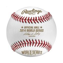 Official 2014 World Series MLB Baseball in Display Cube - WSBB14-R - OPEN BOX