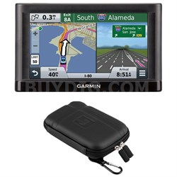 "nuvi 55LM GPS Navigation System with Lifetime Maps 5"" Display Case Bundle"