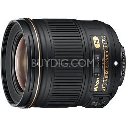 AF FX Full Frame NIKKOR 28mm f/1.8G Compact Wide-angle Prime Lens - OPEN BOX