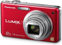 DMC-FH20R LUMIX 14.1 Megapixel Digital Camera (Red)