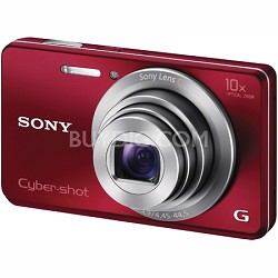 Cyber-shot DSC-W690 16MP 10X Zoom 720p Video Digital Camera (Red)