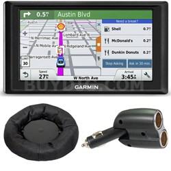 Drive 60LM GPS Navigator (US) 010-01533-0C Dash Mount + Car Charger Bundle