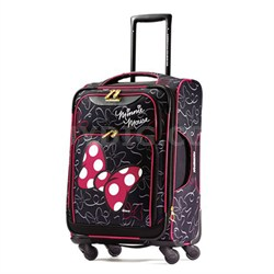 """67614-4754 21"""" Softside Spinner - Minnie Mouse Red Bow"""