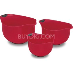 Set of 3 Red BPA-free Mixing Bowls (CTG-00-3MBR)