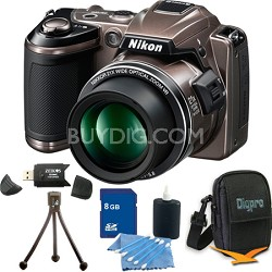 COOLPIX L120 Bronze Digital Camera 8GB Bundle
