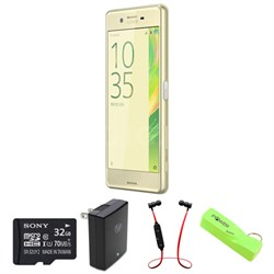"Xperia X Performance 32GB 5"" Smartphone Unlocked - Lime Gold w/ Headphone Bundle"