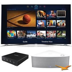 """UN46F8000 - 46"""" 1080p 240hz 3D Smart LED HDTV with SHAPE Audio Bundle - White"""