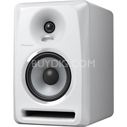 "White Pioneer S-DJ50X 5"" Active DJ Speaker Reference Monitor"