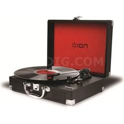 Vinyl Motion 3-Speed Belt Drive Suitcase Turntable w/ Built-In Speakers - Black