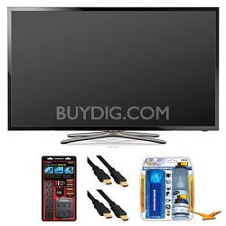 "UN40F5500 40"" 60hz 1080p WiFi LED Slim Smart HDTV Surge Protector Bundle"