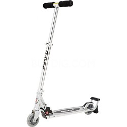 Spark Kick Scooter Black/Silver with Clear Wheels
