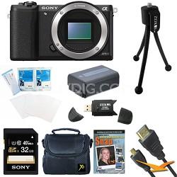 a5100 24.3MP HD 1080p Mirrorless Camera Body Black 32GB Bundle