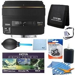 30mm f/1.4 EX DC HSM Autofocus Lens for Nikon DSLR Cameras Pro Lens Kit
