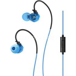 Sport-Fi M3P In-Ear Headphones w/ Memory Wire, Inline Microphone, Remote - Blue