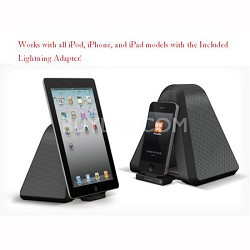 Portable Stereo Speaker w/ Dock for All iPod/iPhone/iPad with Lightning Adaptor