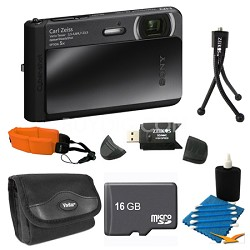 DSC-TX30/B Black Digital Camera 16GB Bundle