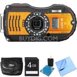 WG-5 GPS 16MP Digital Camera Orange 4GB Bundle