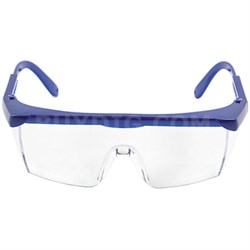 Protective Safety Glasses w/ Adjustable Frame (Blue) SGLASS-ADJ