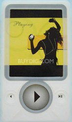Protective silicone skin for Microsoft Zune 30 gig (Clear) w/ Lanyard