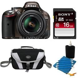 D5200 DX-Format Bronze Digital 16 GB SLR Camera and 18-55mm VR Lens Bundle