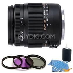 18-250mm F3.5-6.3 DC Macro OS HSM Lens for Sony Alpha Kit