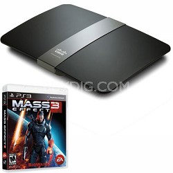 Maximum Performance Dual-Band N900 Router (E4200 v2) with Mass Effect 3 for PS3