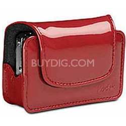 Chic Patent Leatherette Camera Case - Red