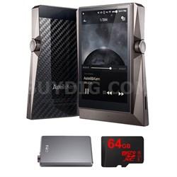AK380 Hi-res Portable Audio Player w/ FiiO A5 Headphone Amps Bundle