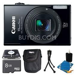 PowerShot ELPH 530 HS Black Camera 8GB Bundle