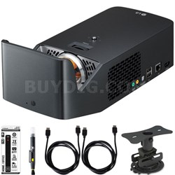PF1000U Ultra Short Throw Home Theater Projector w/ Mount and Accessory Bundle